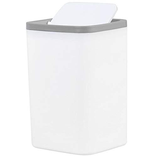 GLGLZBDPPJIUGE LQPJJZMDD Cubos de Basura de Reciclaje Cubo de la Basura Cubo de Basura pequeño Mini Escritorio de sobremesa Papelera for la Basura Servicio de Alquiler de Bin Gris (Color : Gray)