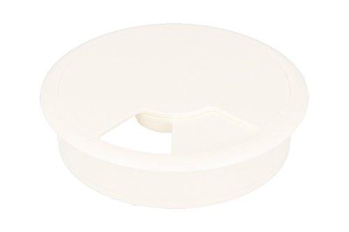MS Beschläge® Kabeldurchlass Kabelkanal aus Kunststoff in Weiss Durchmesser 60mm (5)