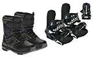 Symbolic Custom-Flow Black Snowboard Bindings & Boots & Leash & Stomp Pad Kids XS-Small