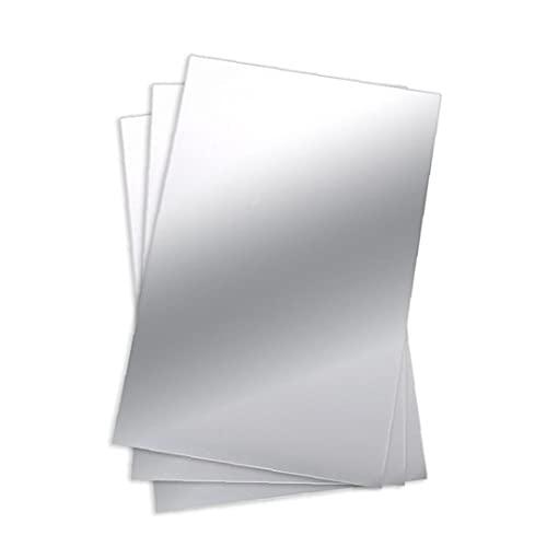 Sanfiyya Hoja Espejo de PVC Flexible para no Espejo de Cristal Azulejos Pegatina para el hogar decoración de la Pared Artículos del hogar