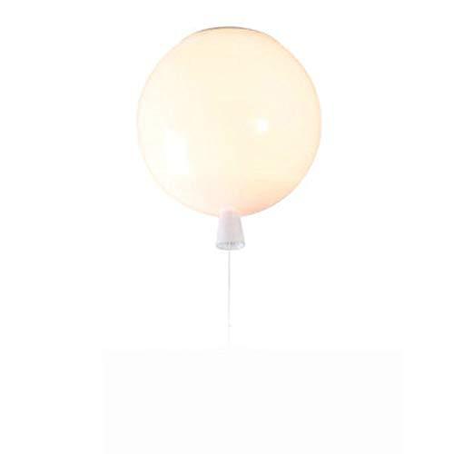 Nordic kreative Persönlichkeit Farbe Luftballons Moderner Minimalist Acryl Deckenlampen Schlafzimmer Lampen Kinderzimmer Kinderzimmer 20cm, 25cm, 30cm, 35cm Yang1mn (Color : White)