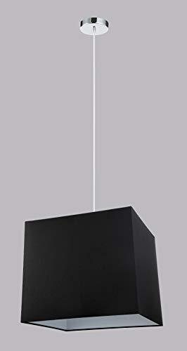 NEMO lampadario a sospensione paralume cubo in tessuto nero Diamantlux