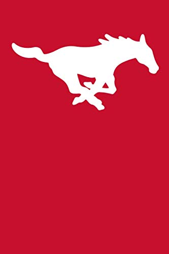 SMU Mustangs Notebook: Minimalist Composition Book | 100 pages | 6
