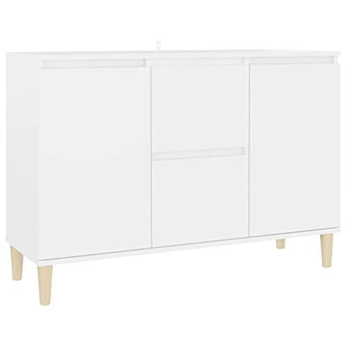vidaXL Aparador Entrada Acento Pasillo Vestíbulo Recibidor Auxiliar Decoración Hogar Casa Escritorio Mueble de Aglomerado Blanco 103,5x35x70 cm