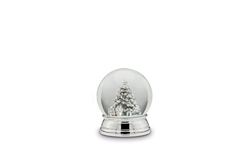 magicaldeco XL- Edel Schneekugel- Tannebaum, Geschenke - versilbert und anlaufgeschützt - 12 cm- 750g