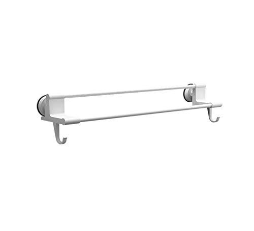 WHZG Toallero de pared con gancho para colgar con ventosa para colgar toallero, estante de baño, prevención de óxido, estante de almacenamiento de cocina, toallero (tamaño: 50,5 cm)