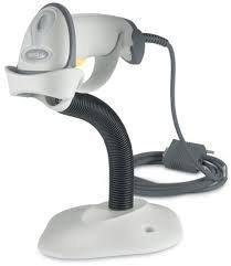 Zebra/Motorola Symbol LS2208Handheld Barcode Scanner, Support et câble USB Inclus Blanc