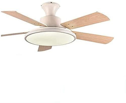 Ventilatore a soffitto con luce LED Soffitto ventilatore a soffitto Nordico ufficio camera da letto soggiorno ristorante soffitto a soffitto a soffitto massello di legno massello telecomando lampada a