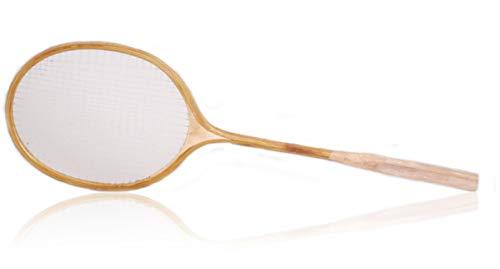 Raqueta de bádmington de madera retro estilo vintage