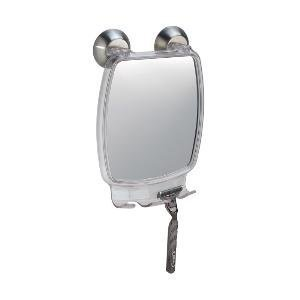 Price comparison product image iDesign Forma Power Lock Shaving Mirror,  Make-Up Mirror,  Made of Plastic and Stainless Steel with Power Lock Suction Cups,  Clear / Brushed