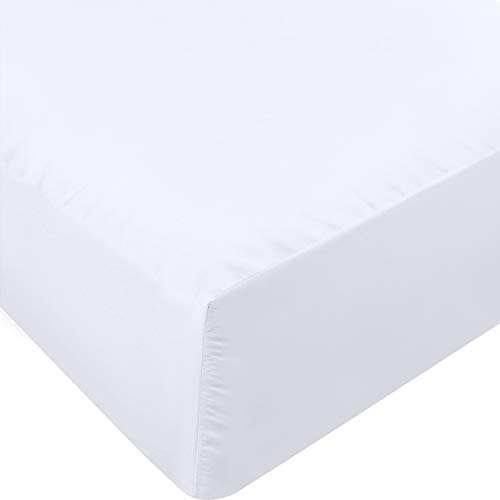Utopia Bedding Fitted Sheet - Soft Brushed Microfiber - Deep Pockets, Shrinkage and Fade Resistant - Easy Care - 1 Fitted Sheet Only (Queen, White)