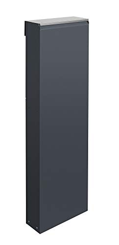 Frabox® Design Standbriefkasten NAMUR anthrazitgrau RAL 7016 / Edelstahl – Made in Germany! - 3