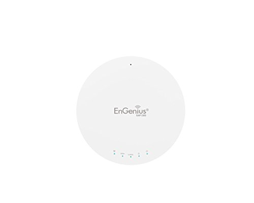 EnGenius Technologies EAP1300 Wi-Fi 5 (802.11ac Wave 2) 2x2 Managed Indoor Wireless Access Point Features Quad-Core Processors, MU-MIMO, High Powered 26dBm, GigaE Port (Mounting Kit Included)