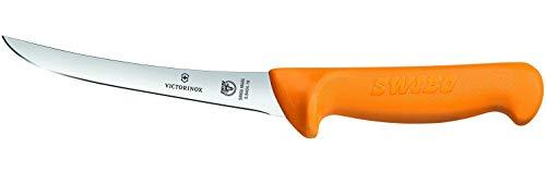 Victorinox Küchenmesser Swibo Ausbeinmesser Normaler Schliff halb-Flex gelb 13 cm Klingenlänge Messer, Nylon, schwarz