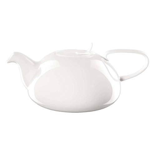 ASA Á Table Teekanne mit Sieb, Keramik, weiß glänzend, 18.6x18.6x11 cm