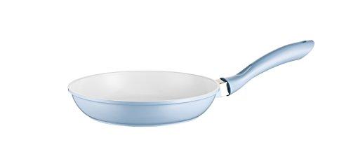 Mäser, Serie Kitchen Time, Bratpfanne 24 cm, antihaftbeschichtet, Pfanne mit weißer ILAG-Ceramic-Beschichtung, in der Farbe Blau
