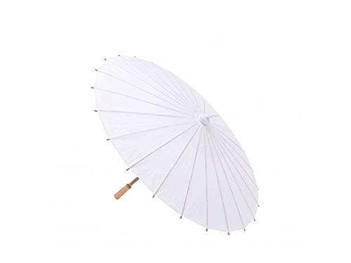 Lote de 10 Parasoles Papel Bambú Bodas - Sombrillas Chinas Baratas Amazon Dónde Comprar (Envío Gratis desde España) (Blanco)
