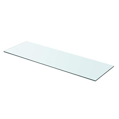 N / A vidaXL Regalboden Glas Transparent,Glasboden Glas Regalboden Glasscheibe Glasplatte Einlegeboden Glasablage, für verschiedenste Ausstellungsstücke bieten,80 x 25 cm