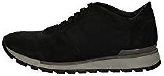 BRIAN CRESS BY CAMPANILE Scarpe Sneakers Uomo X13 Pelle Nero Originale AI