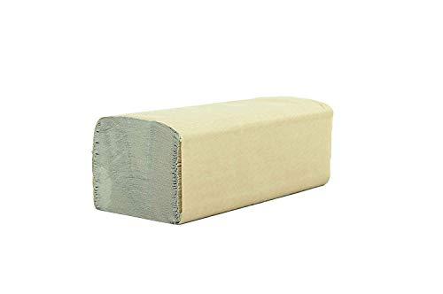 SemyTop Quicky Papierhandtuch, ZZ-Falz, 25 x 23 cm, 1lag, natur, 5000 Blatt, 1er Pack (10 x 500 Stück)