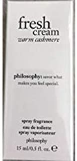 Philosophy Fresh Cream Warm Cashmere Eau de Toilette .5 oz Sealed