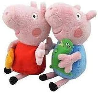 Piggy Pig Cute Mini Peppa Plush Toy Peppa & George 2pcs - 4