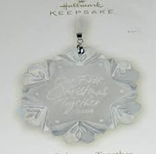 2008 Hallmark OUR FIRST CHRISTMAS TOGETHER glass ornament