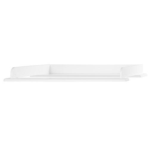Miami Wickelaufsatz 80x75cm, passend Kommoden, Holz, Weiss metallic, 80.8 x 97.6 x 8 cm
