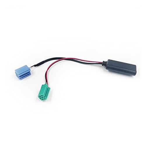 FENGFENG Sun Can Radio de automóvil Blue Blue Mini ISO 6PIN 8PIN Conector Bluetooth 5.0 AUX Cable Adaptador Ajuste para Renault Radio UpdateList (Color Name : 6pin 8pin)