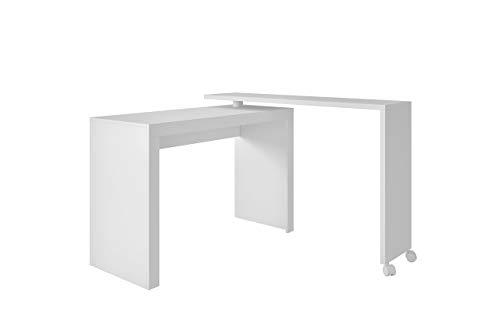Preisvergleich Produktbild Tumueblekit ME900301XXXBL Computer-Schreibtisch,  drehbar,  MDF,  Weiß,  81 x 120 x 46 cm