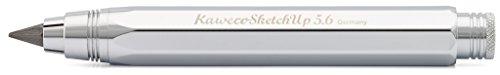 Kaweco Sketch Up Brilliant Fallbleistift 5,6mm 5B I hochwertiger Minenbleistift aus massivem Metall in oktogonalem Acht Kant Design I Druckminenbleistift 10,3cm I Druck-Bleistift nachfüllbar Silber