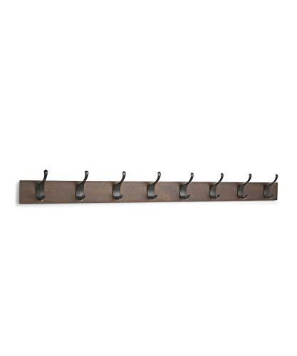 AmazonBasics - Perchero de madera de pared, 8...