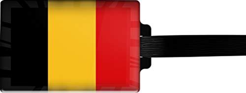 metALUm Etiqueta para Equipaje/Modelo Marco Polo/Bandera la Bélgica / 3001014