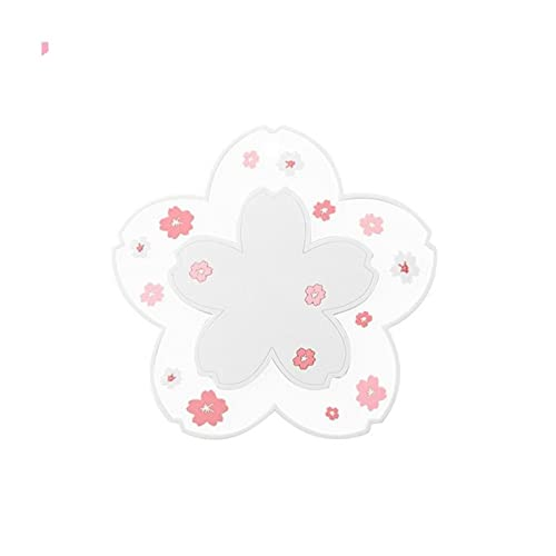 JWDS Posavasos Posavasos Flor Aislamiento Placemat PVC Soft Cepar Vajilla Pot Mat Mat Colgar Sakura Sakura Copa Mesa Mesa De Mesa (2Pcs)