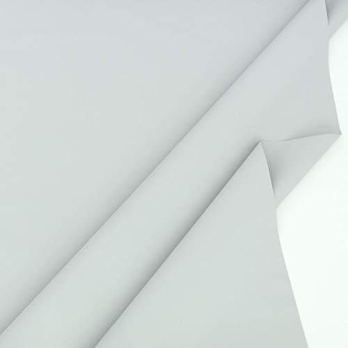 TOLKO 50cm Sonnenschutz Planen- und Sonnensegel-Stoff Meterware - Oeko-TEX® Qualität mit UV-Schutz 80+ - Wasserdicht, Wetterbeständig und Lichtecht - 170 cm breit (Hell Grau)
