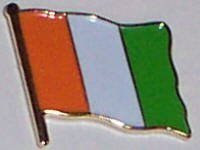 MadAboutFlags Pin/Badge Flagge Fahne Elfenbeinküste