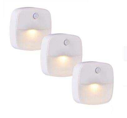LEBEXY LED Night Lights with Motion Sensor, Very Good for Children's Room, Staircases, Bedrooms, Kitchens, Orientation Light, Warm White Energy Efficient (3 Pack)