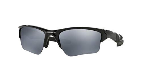 Oakley Half Jacket 2.0 XL, OO9154 (05) Polished Black/Black Iridium Polarized 62mm, Sunglasses Bundle with original case, and accessories (5 items)