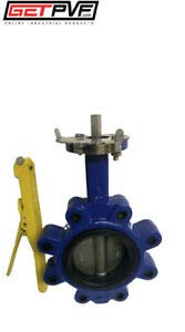 "4"" Lug Butterfly Valve Ductile Iron Body 316 SS Disc by Unbranded"