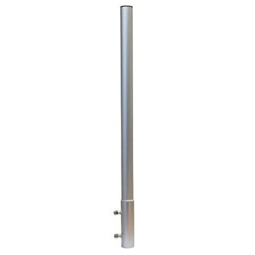 PremiumX Mastverlängerung 100cm Ø 50mm ALU Mastaufsatz Antennenmast Verlängerung Sat-Mast-Halter Aluminium mit Mastkappe