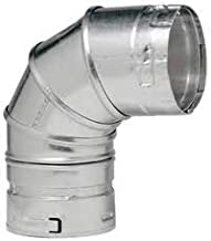 Metal-Fab 4M90 Double Wall Vent Pipe 4 in. 90 Degree Ell