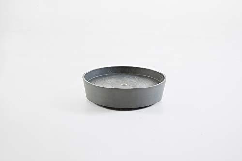 Ashortwalk ECOPOTS Soucoupe ronde sur roulettes en plastique recyclé (Ø 41,6 cm x H9 cm) (Gris)