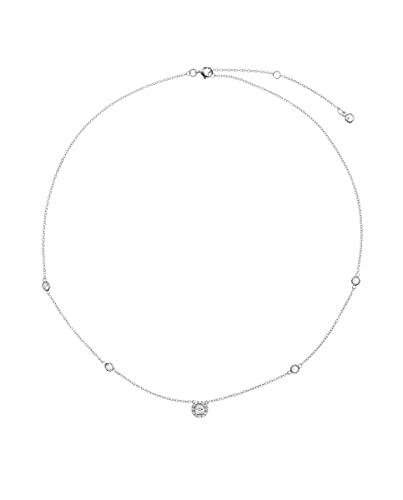 VIDAL & VIDAL Collar colección Signature circonitas Plata acabada en Platino