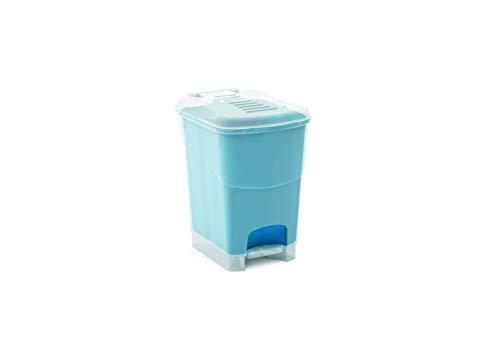 Preisvergleich Produktbild Kis Koral Abfallbehälter 16L mit Pedal und Inneneimer,  milky-blau