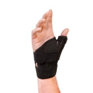 Mueller Reversible Thumb Stabilizer, Black, One Size Fits Most