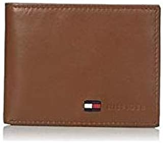 Tommy Hilfiger Brown Leather For Men - Bifold Wallets