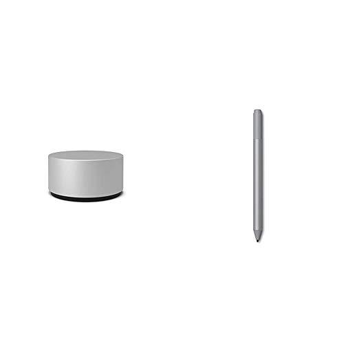 Microsoft Surface Dial silber & Surface Pen Platin Grau