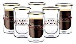 Blackstone Estikana cups 6 pcs 100ml Set طقم استكانات بلاكستون بيالات استكانة بيالة (Red)