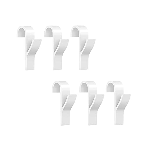 6 Pzs Ganchos para Radiadores, Colgadores para Radiador, Ganchos para Toallas con Calefacción de Bath Sostenedor del Gancho de la Suspensión de Ropa Percha Percha Plegable, Blanca, Plástico ABS