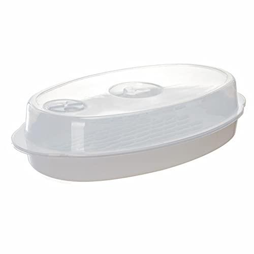 Taoyun Calentador de vapor para horno de microondas redondo de plástico Bun al vapor caliente con tapa Lightwave vaporizador